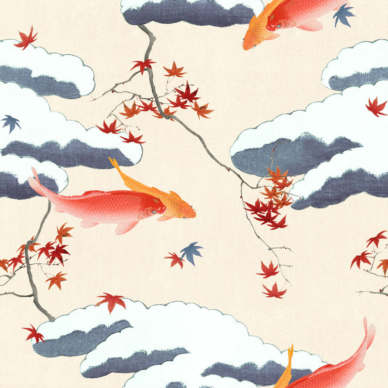 复古日本无缝psd模式由渡边正泰的艺术品混音