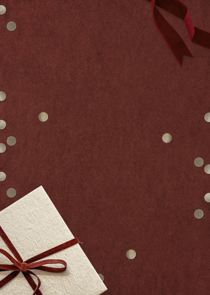 圣诞礼物红色背景五彩纸屑psd