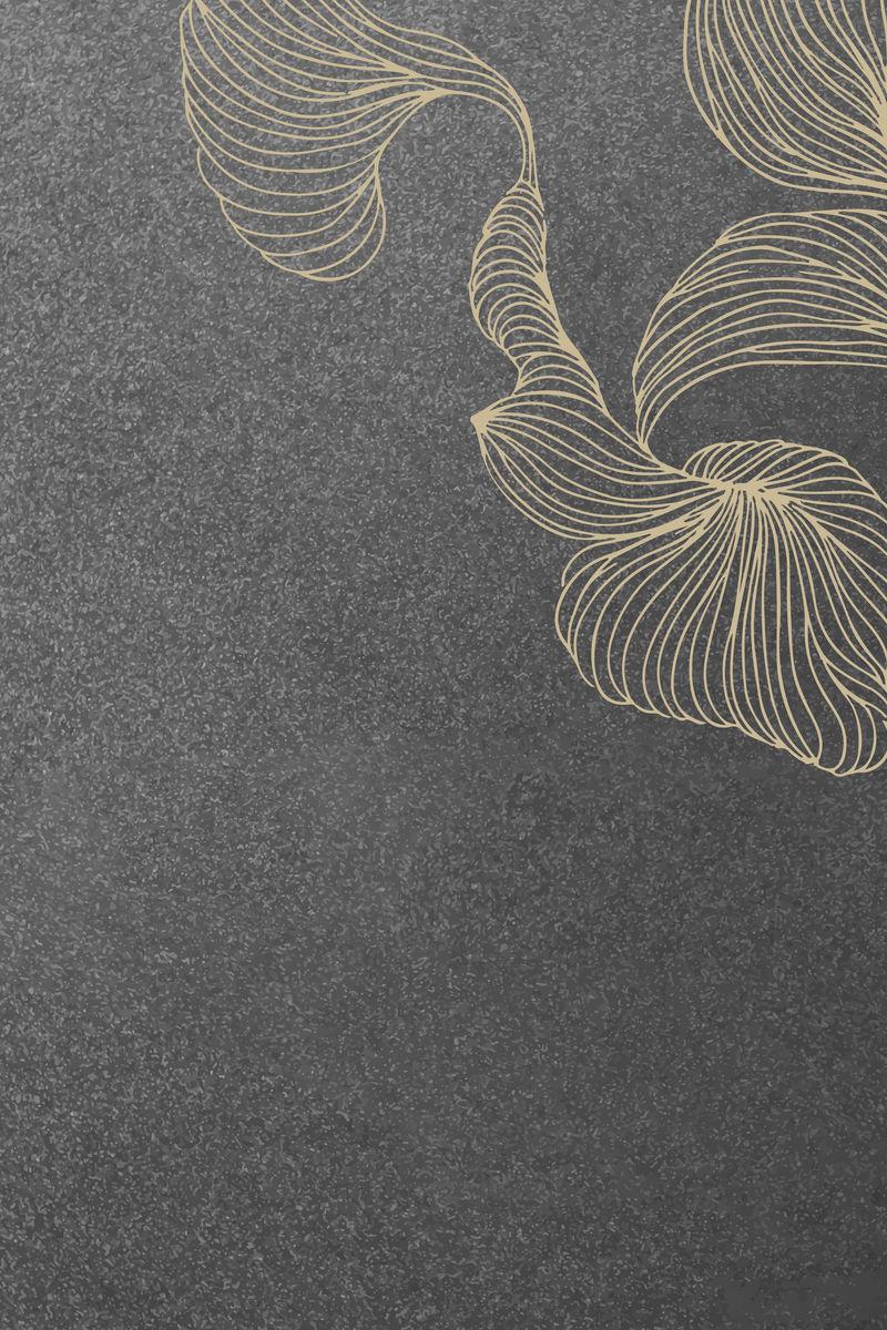 基于黑色背景向量的米色抽象设计