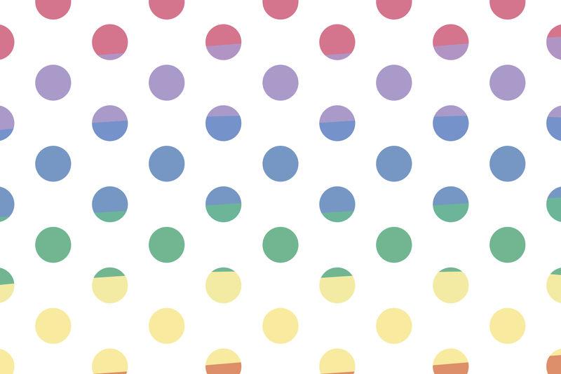 儿童彩虹圆点背景