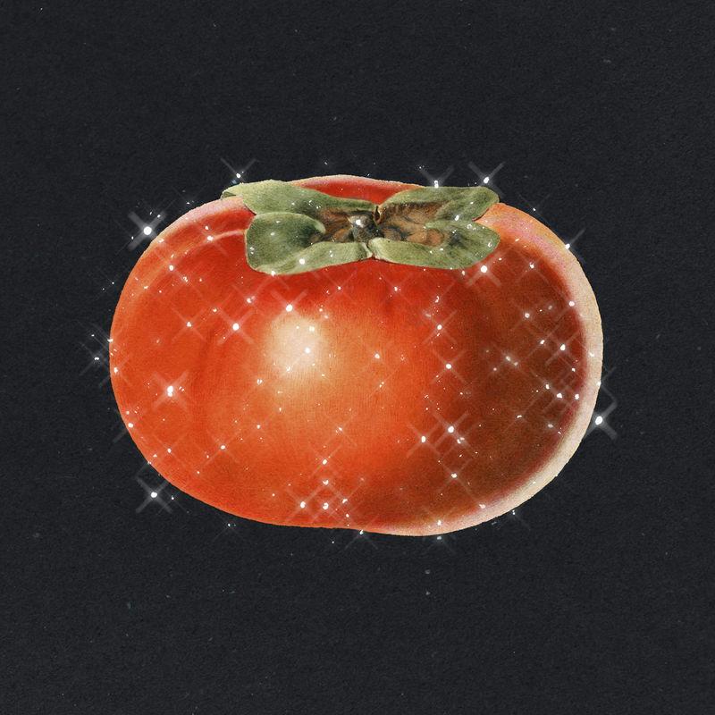 手绘泡柿果设计元素