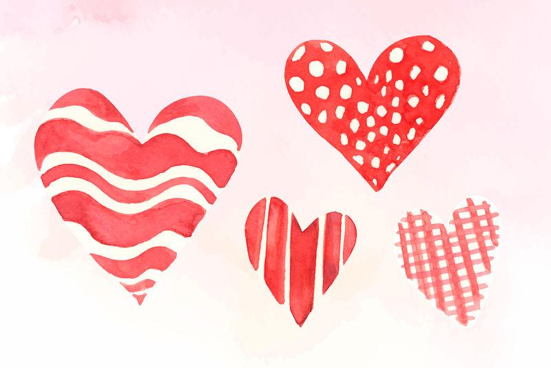 情人节快乐;s日矢量心形图标系列