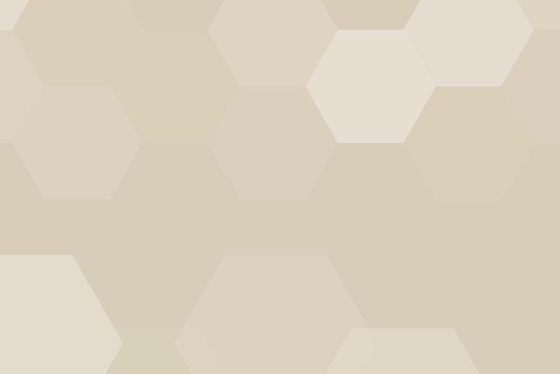 米色几何六边形图案背景向量