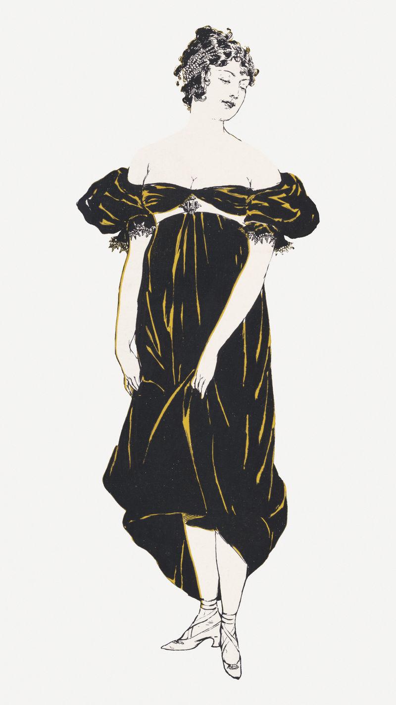 复古挡板女子psd艺术印刷品由爱德华·彭菲尔德的艺术作品混合而成