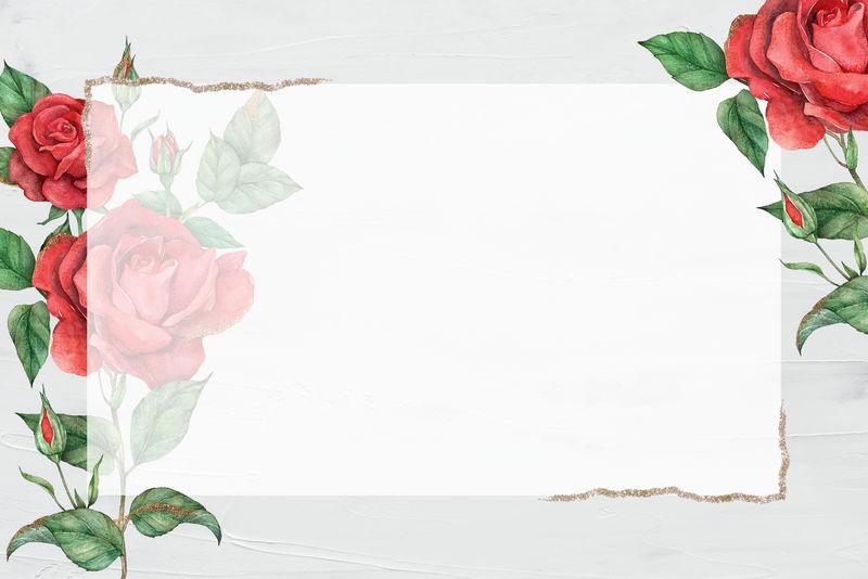 红玫瑰金边框