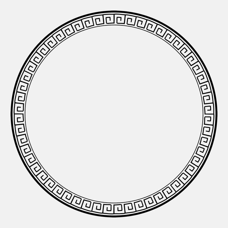 中国框架psd东方木版图案黑圈