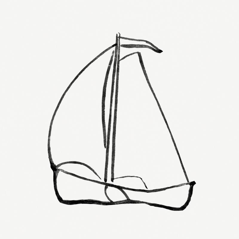 帆船psd复古绘画从利奥·格斯特尔的艺术作品中混合而成