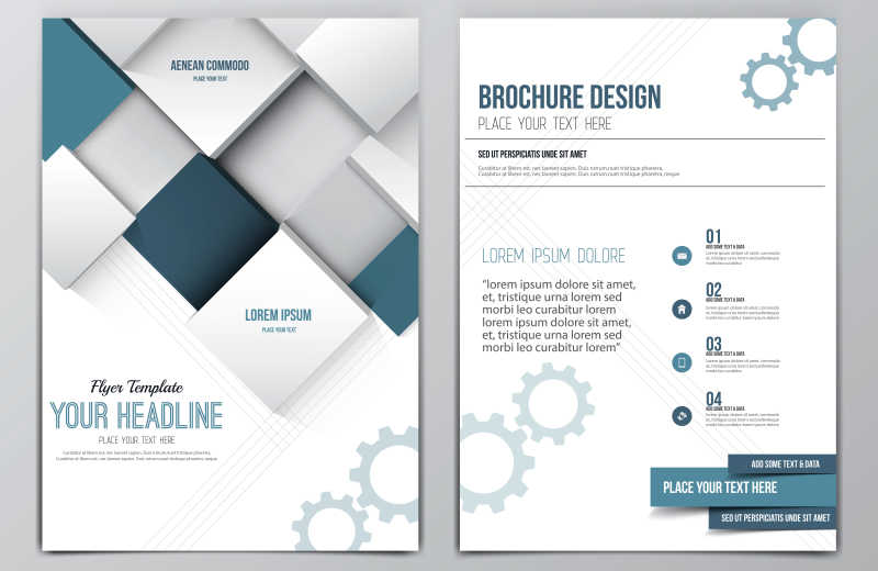 矢量的册子封面设计