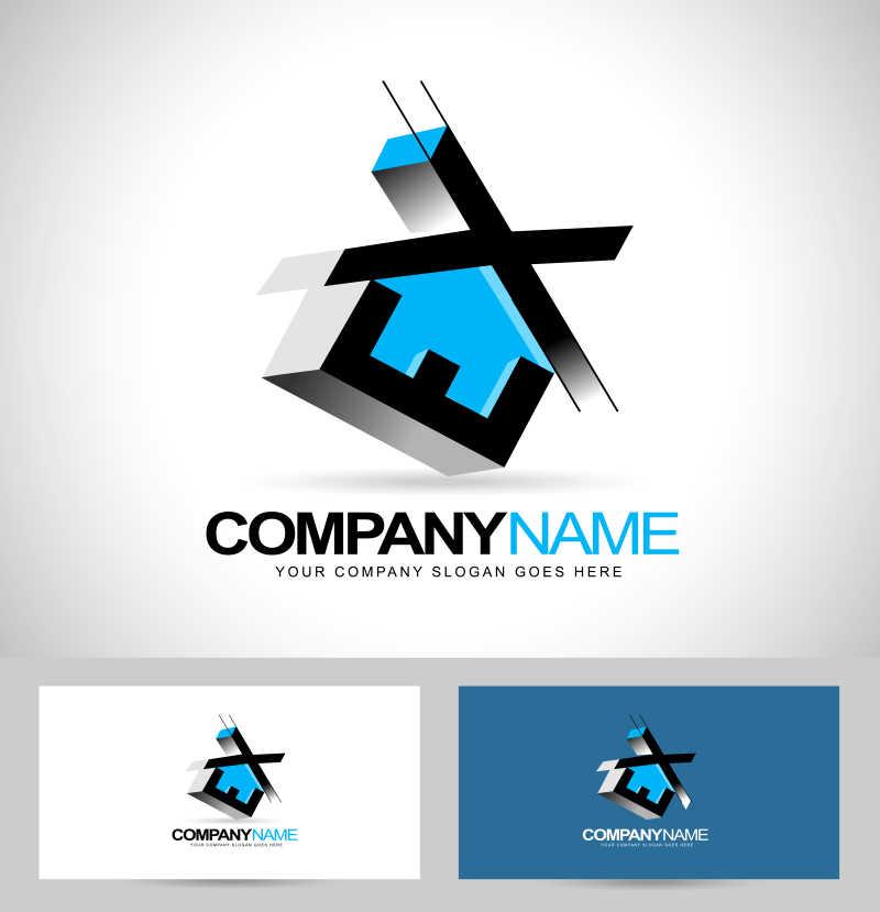 字母元素的矢量公司标志创意设计