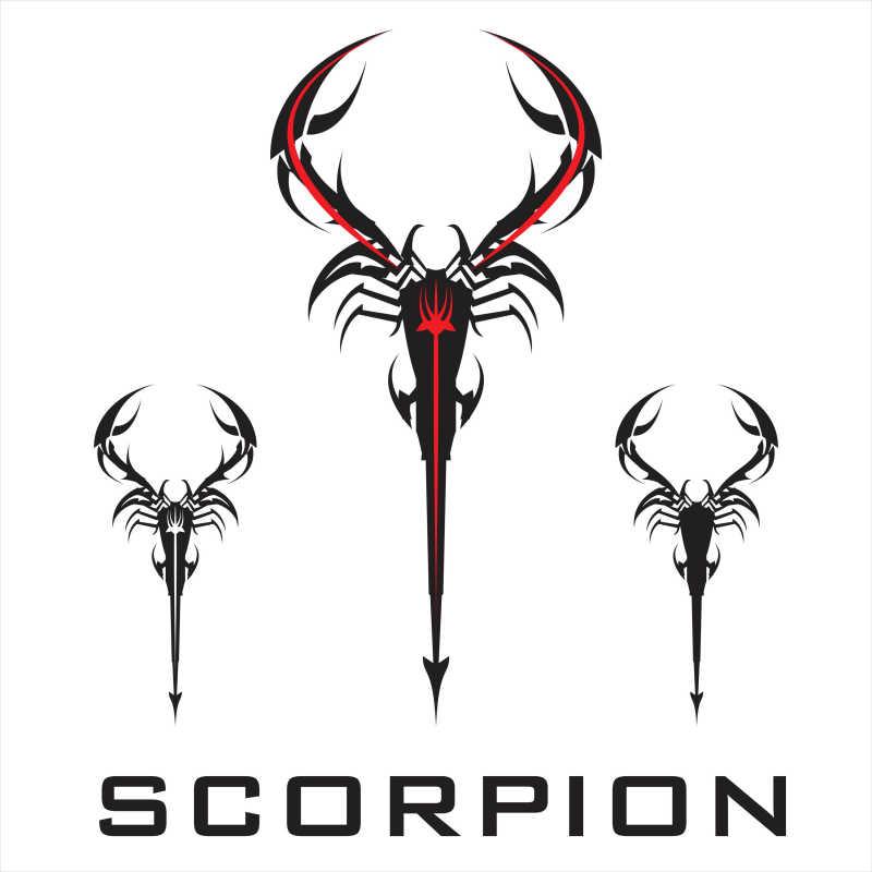矢量的蝎子形状商标设计