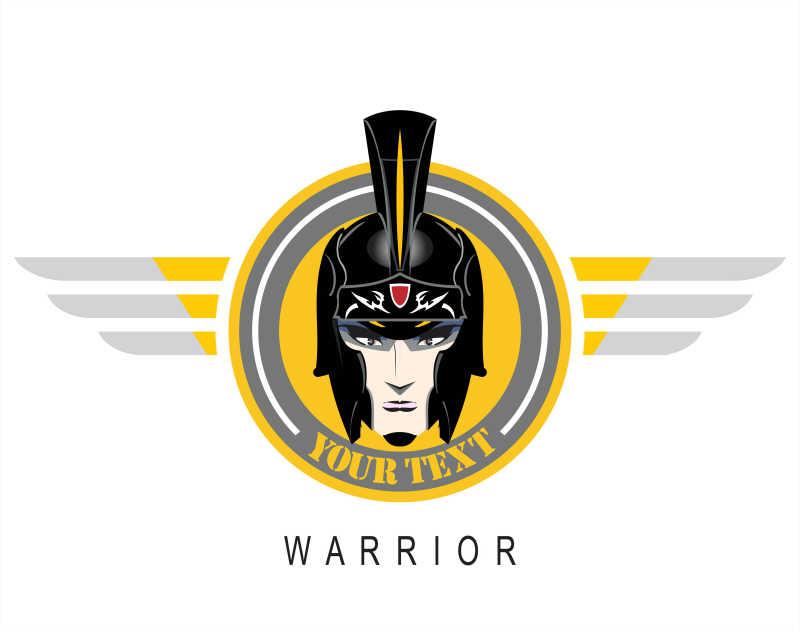 罗马战士头像矢量商标设计
