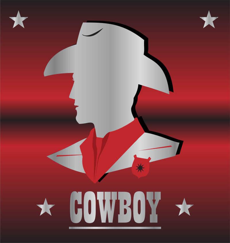 矢量的牛仔头像设计