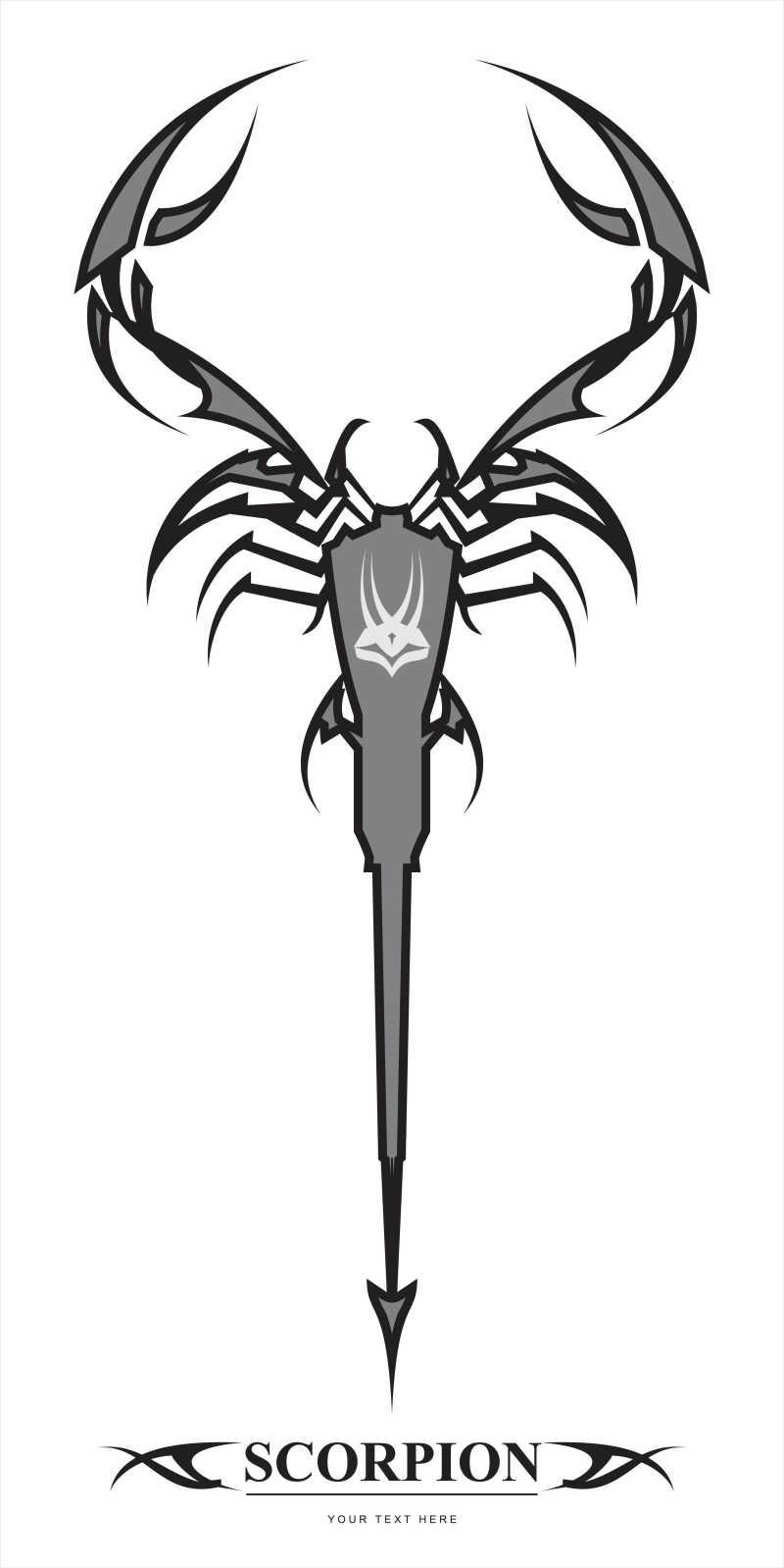 矢量的蝎子形状插画