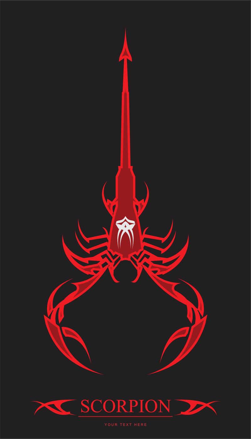 红色的蝎子矢量背景