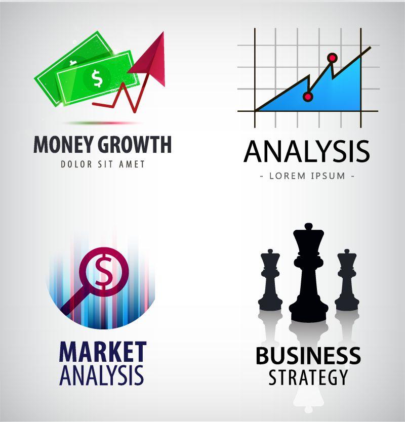 商业数据概念商标设计