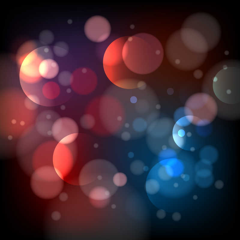 矢量彩色抽象的光斑背景