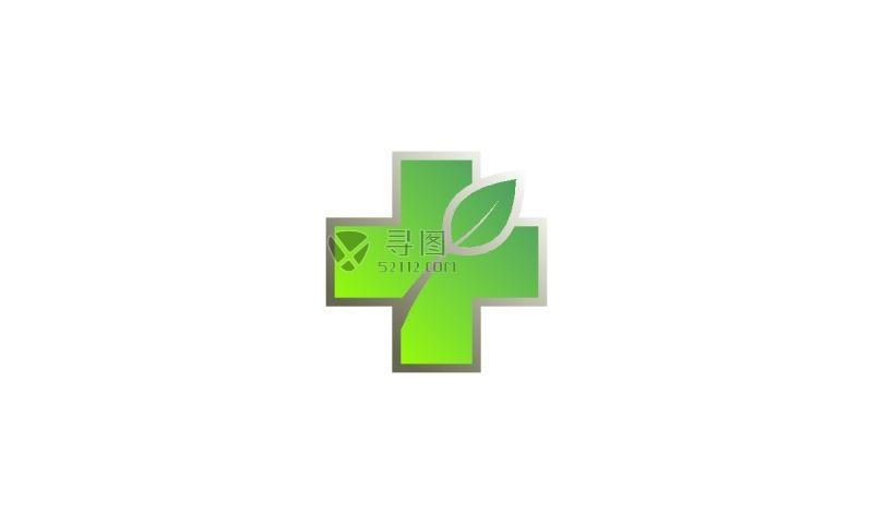 健康生态矢量标签