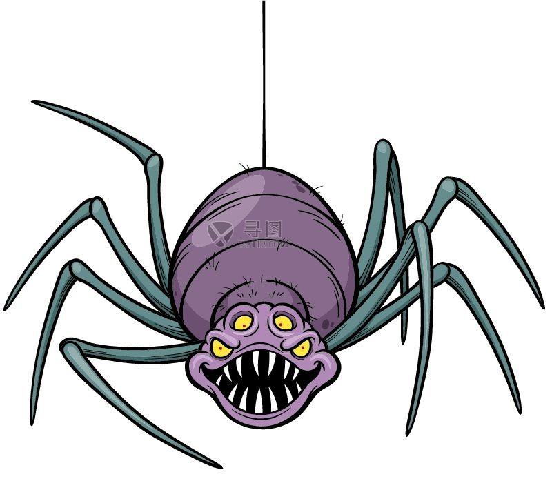 矢量卡通蜘蛛插画素材