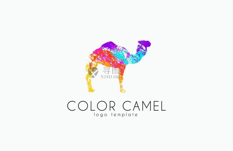 矢量的彩色骆驼商标