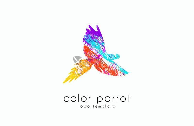 彩色的矢量鹦鹉图案