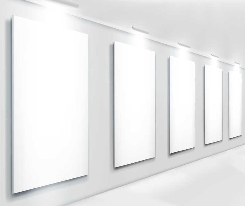 展览的空白画框矢量图