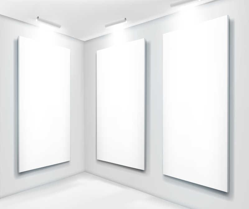 美术馆展览部分矢量图