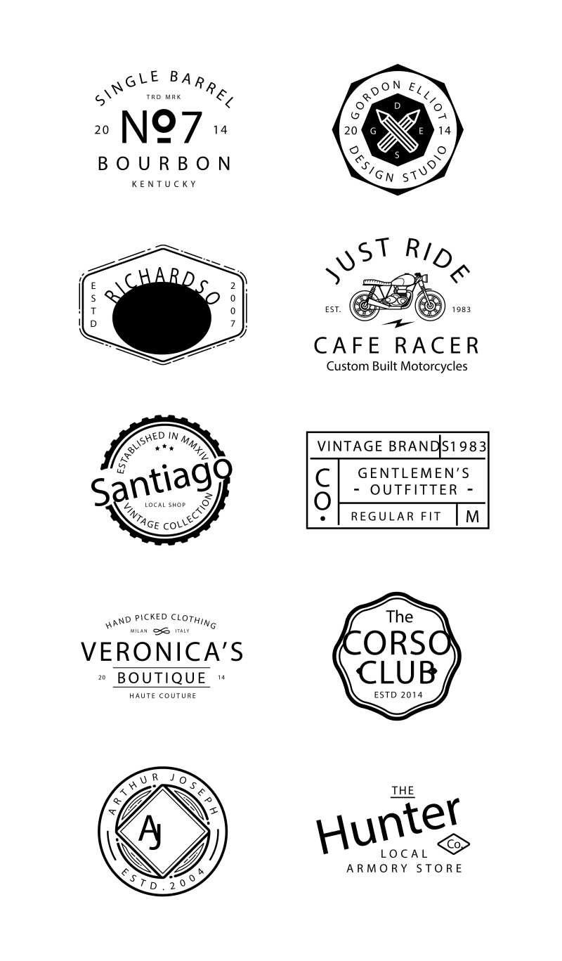 矢量复古品牌标志设计