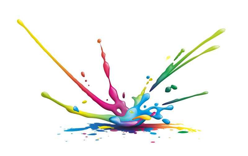 矢量的彩色油漆