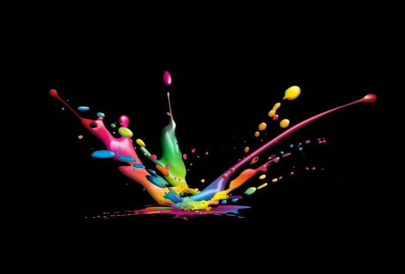 矢量彩色油漆