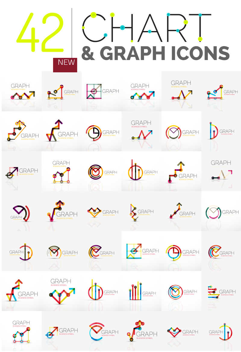 线性抽象矢量标志设计