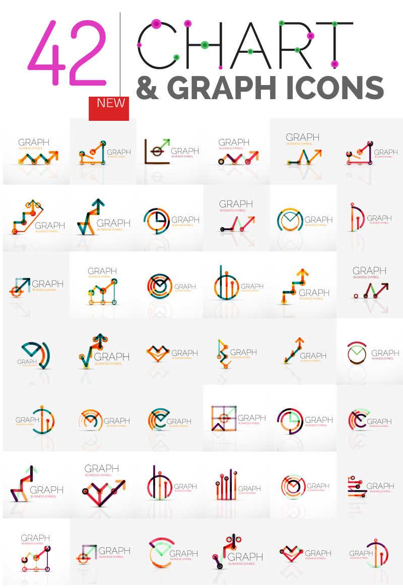 线性数据矢量抽象标志