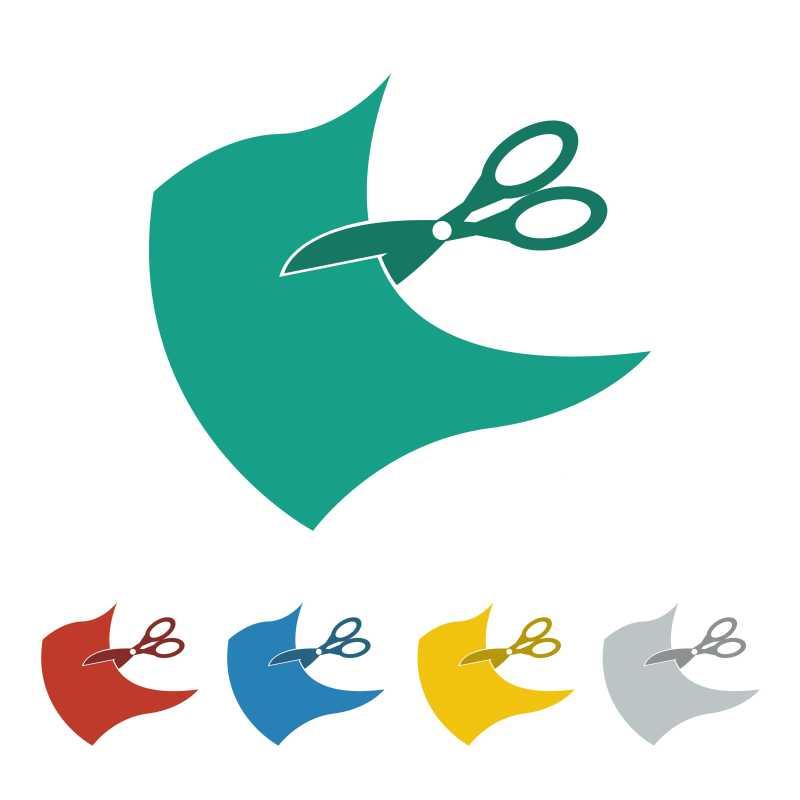 各种颜色的裁缝创意图标矢量插图
