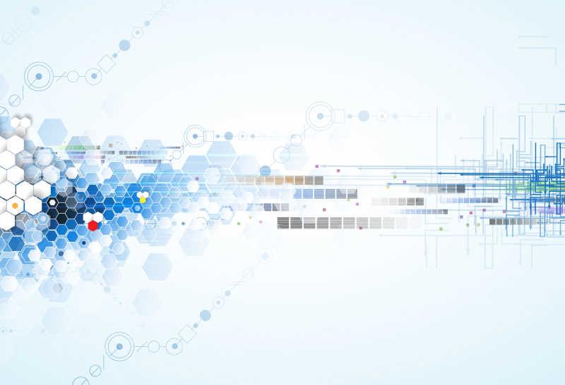 科学的未来技术矢量模板
