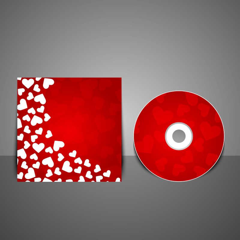 矢量的红色光盘封面设计模板