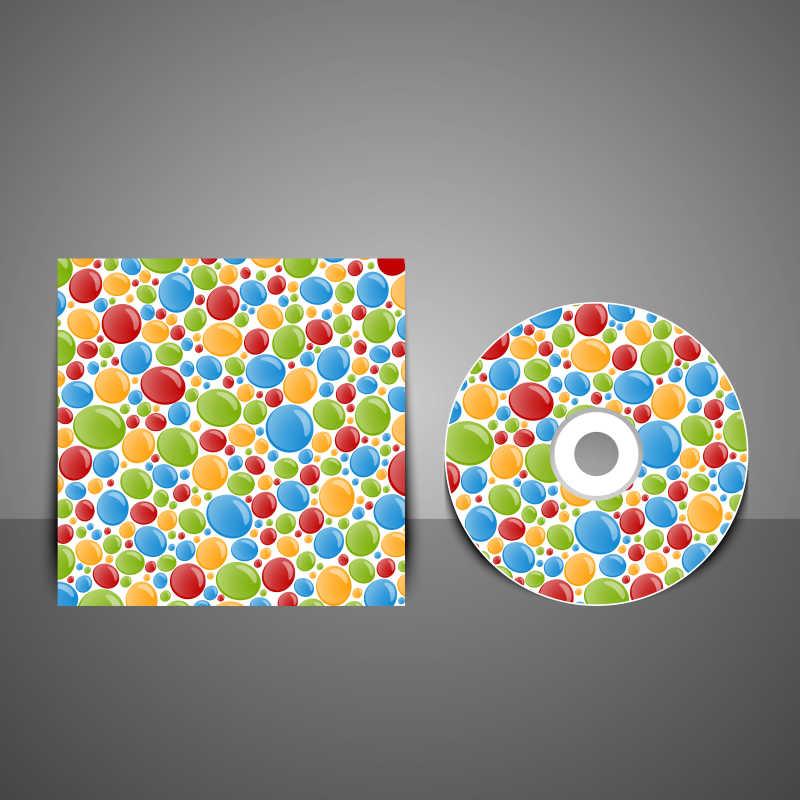 彩色的光盘封面矢量设计模板