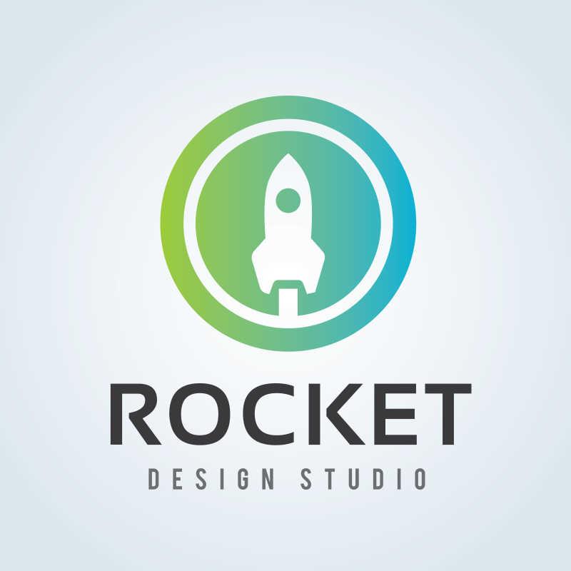 火箭标志矢量模板