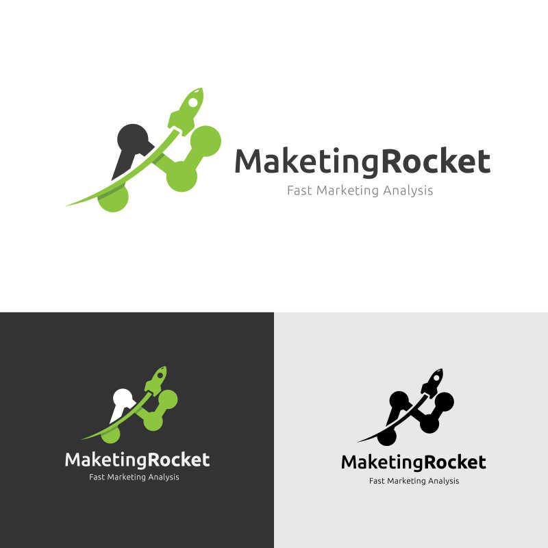创意的火箭矢量标识模板