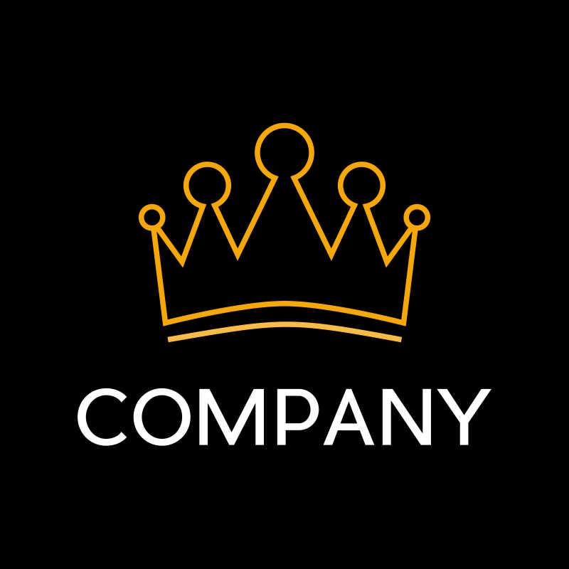 金色皇冠矢量商标设计