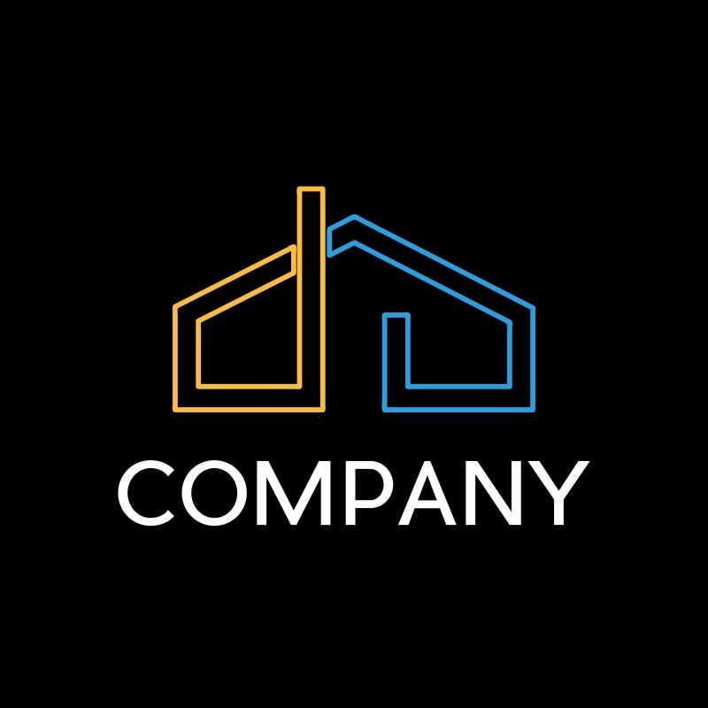 矢量的房屋形状商标设计