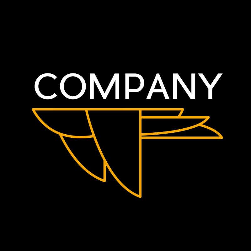 飞鸟形状矢量商标设计
