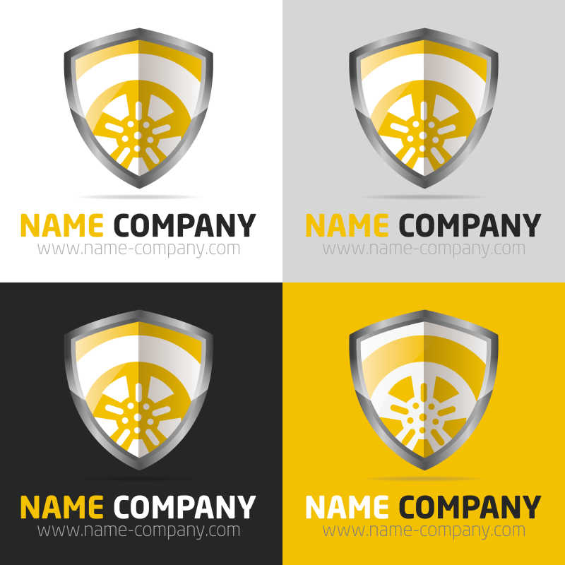 矢量盾牌形状商标设计