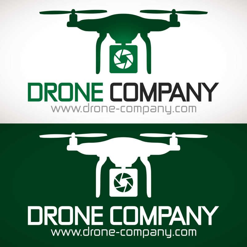 矢量的无人机商标设计