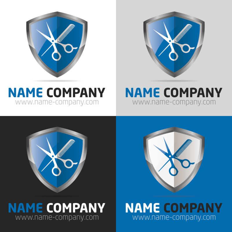 矢量的盾牌形状商标设计
