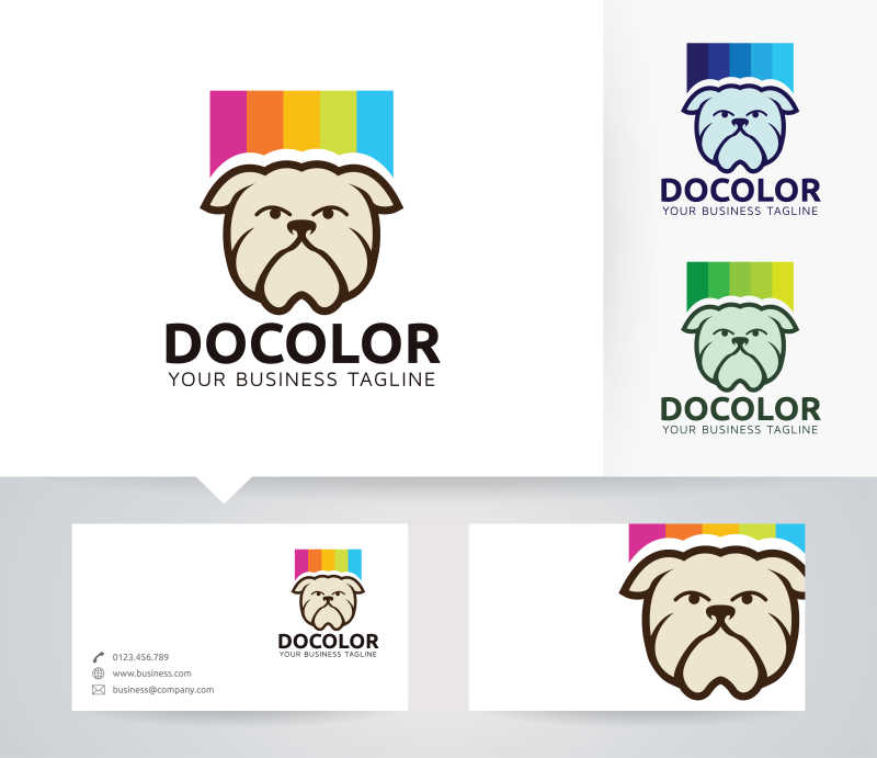 矢量的宠物狗形状商标