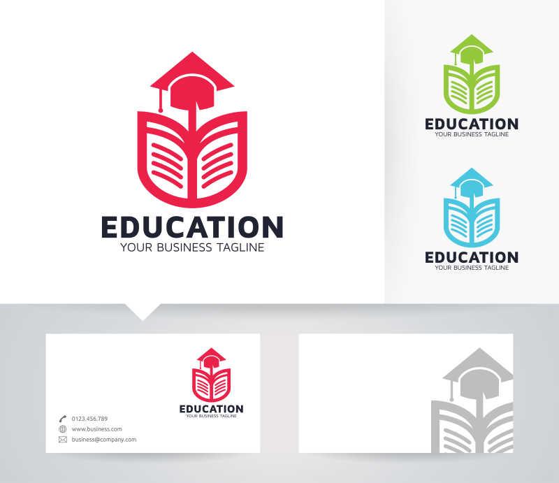 教育主题矢量商标设计