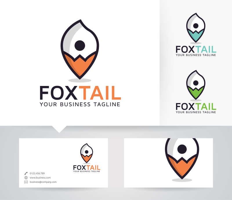 狐狸尾巴形状矢量商标设计