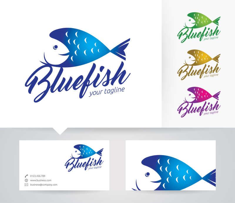 矢量的鱼形商标设计