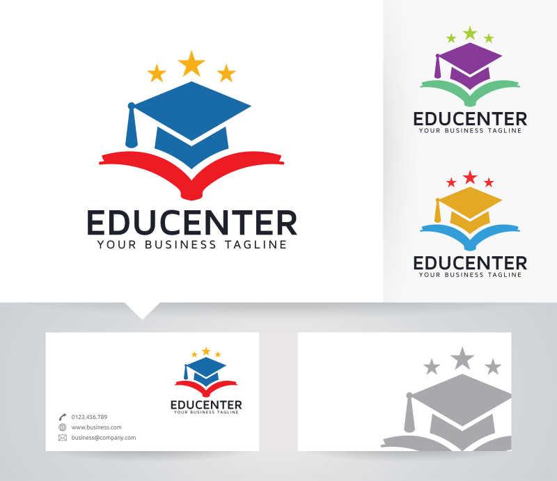 教育机构矢量商标设计