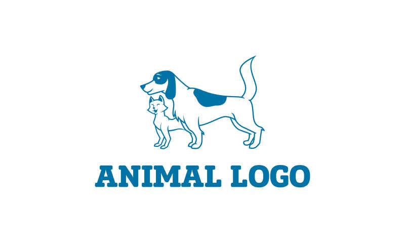 矢量的狗狗形状商标