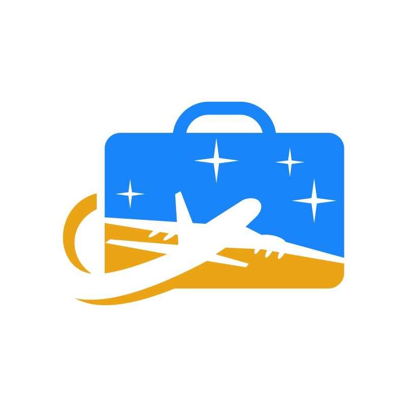 公文包和飞机结合的矢量商标